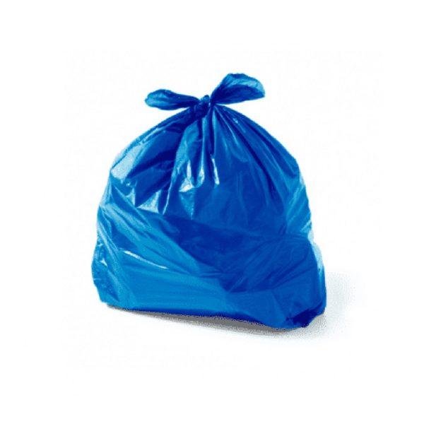 saco de lixo domestico azul
