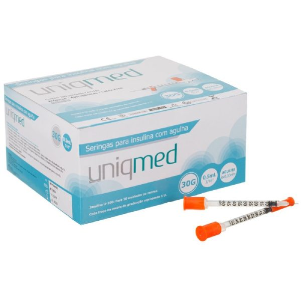 seringa insulina 05ml agulha 8mm